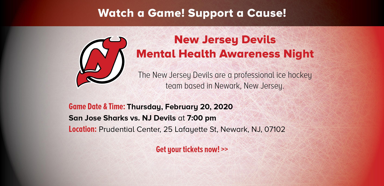 NJ Devils Mental Health Awareness Night