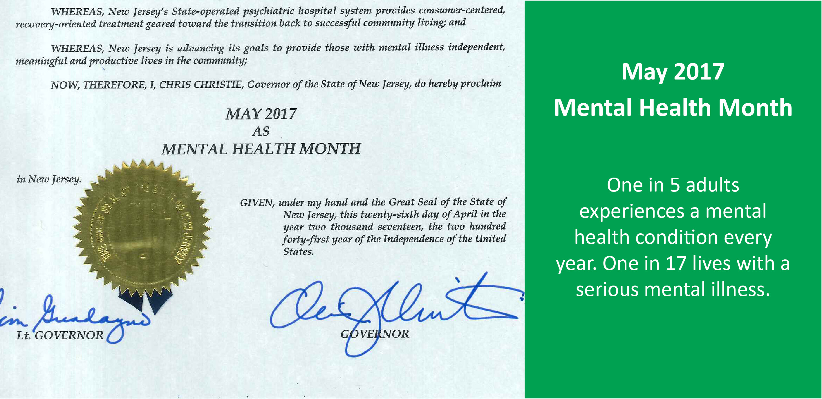 Mental Health Month Proclamation